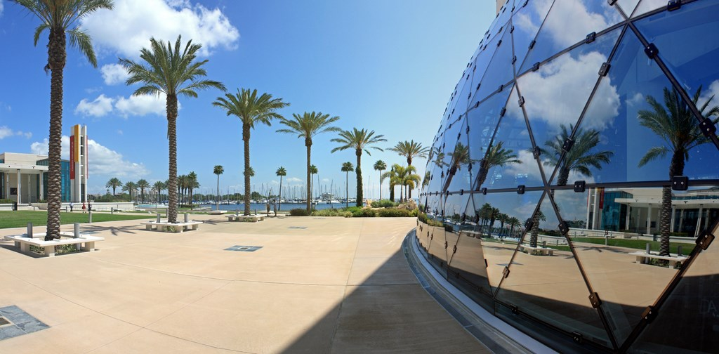 Outside of the Salvador Dali Museum in St. Petersburg, Florida