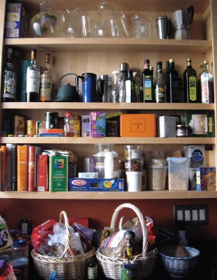 Organized Apartment Pantry