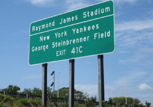 Raymond James Stadium Road Sign
